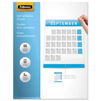 Fellowes® Self-Laminating Sheets, 3mil, 12 x 9 1/4, 50/Box