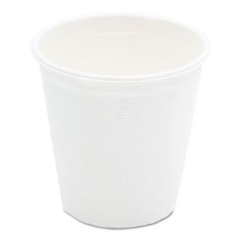 Compostable Sugarcane Bagasse Hot Cups, 12oz, White, 50/Pack