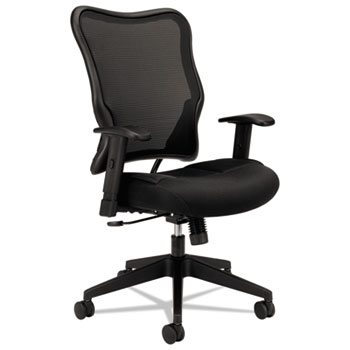 HON® Wave™ Series High-Back Swivel/Tilt Chair, Black Mesh