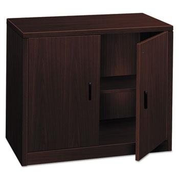 10500 Series Storage Cabinet w/Doors, 36w x 20d x 29-1/2h, Mahogany