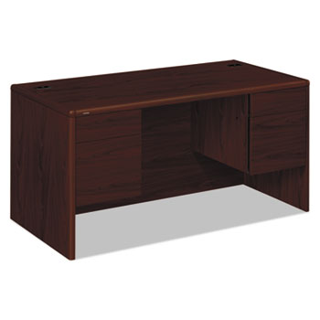 10700 Series Desk, 3/4 Height Double Pedestals, 60w x 30d x 29 1/2h, Mahogany
