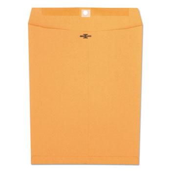 W.B. Mason Co. Kraft Clasp Envelope, Center Seam, 32lb, 10 x 13, Brown Kraft, 100/Box