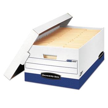 Bankers Box® Presto Maximum Strength Storage Box, Legal 24, 15 x 24 x 10, WE, 12/Carton