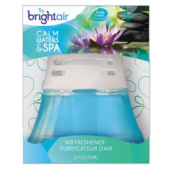 BRIGHT Air® Scented Oil Air Freshener, Calm Waters & Spa, Blue, 2.5oz