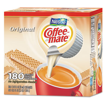 Original Liquid Coffee Creamer, 0.38 oz. Single-Serve Cups, 180/CT