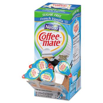 French Vanilla Sugar Free Liquid Coffee Creamer, 0.38 oz. Single-Serve Cups, 50/BX