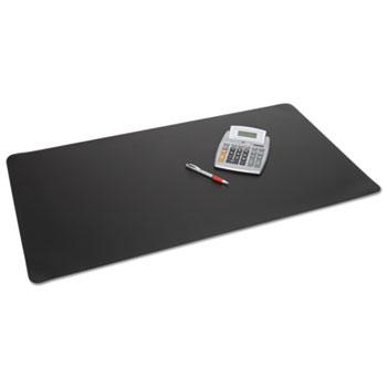 Rhinolin II Desk Pad with Antimicrobial Protection, 24 x 17, Black