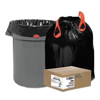 Heavy-Duty Bags, 30gal, 1.2mil, 30 1/2 x 33, Black, 200/Box