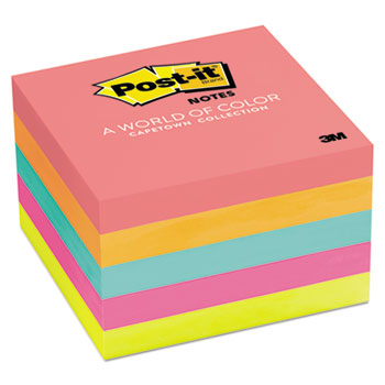 Original Pads in Cape Town Colors, 3 x 3, 100 Sheets, 5/PK