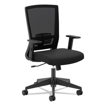 HON® VL541 Mesh High-Back Task Chair with Arms, Black