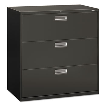 HON® 600 Series Three-Drawer Lateral File, 42w x 19-1/4d, Charcoal