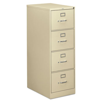HON® 310 Series Four-Drawer, Full-Suspension File, Legal, 26-1/2d, Putty