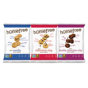 Homefree® Gluten Free Mini Cookies Variety Pack, 1.1 oz/0.95 oz/1.1 oz Packs, 30/CS