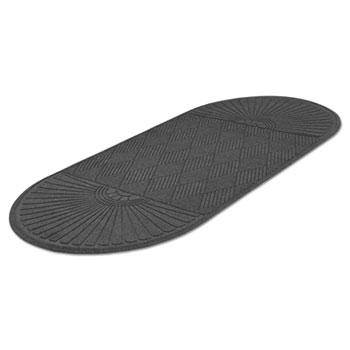 Guardian EcoGuard Diamond Floor Mat, Double Fan, 36 x 96, Charcoal