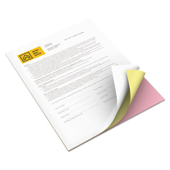Bold Digital Carbonless Paper, 8 1/2 x 11, Pink/Canary/White, 5010 Sheets/CT