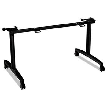 "Huddle Flip-Top Base for 24"" Deep Table Tops, 51-5/8w x 23-1/2d, Black"