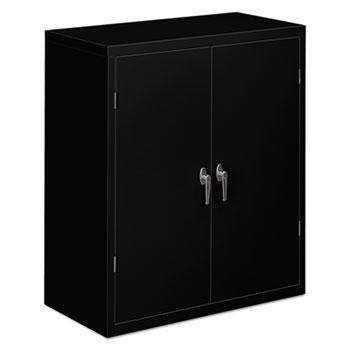 HON® Assembled Storage Cabinet, 36w x 18-1/4d x 41 3/4h, Black