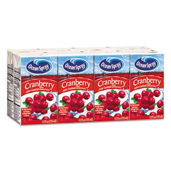 Ocean Spray® Aseptic Juice Boxes, Cranberry, 4.2oz, 40/Carton