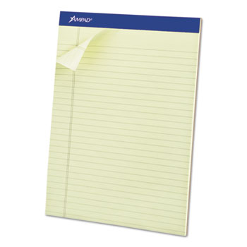 Ampad™ Pastel Pads, 8 1/2 x 11 3/4, Green Tint, Micro Perfed, 50 Sheets, Dozen