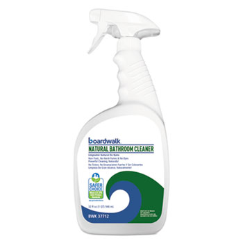 Boardwalk® All-Natural Bathroom Cleaner, 32 oz Spray Bottle, 12/CT