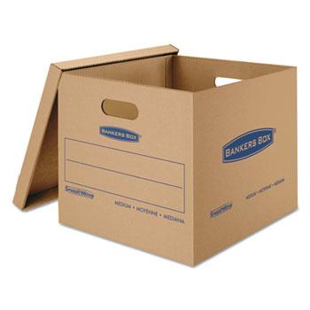 Bankers Box® SmoothMove Classic Moving/Storage Boxes, 18l x 15w x 14h, Kraft, 8/Carton