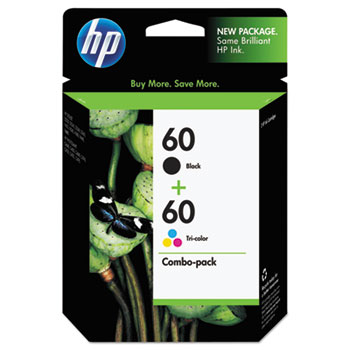 60 Ink Cartridges - Black, Tri-color, 2 Cartridges (N9H63FN)