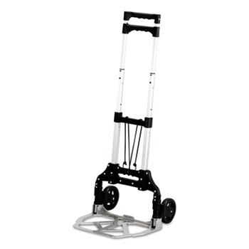 Safco® Mayline® Stow & Go Cart, 110lb Capacity, 15 1/4w x 16d x 39h, Aluminum