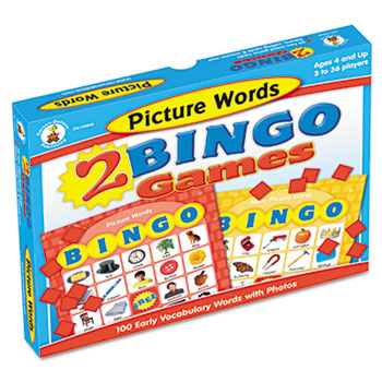 Two Bingo Games, Picture Words and More Picture Words, Ages 4 and Up