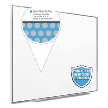 Quartet® Fusion Nano Clean Magnetic Whiteboard, 72 x 48, Silver Frame