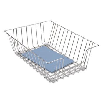 Fellowes® Wire Desk Tray Organizer, One Tier, Wire, Silver