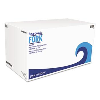 Heavyweight Polystyrene Cutlery, Fork, White, 1000/Carton