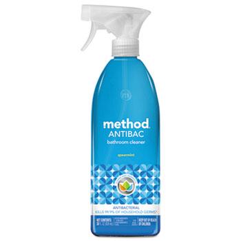 Method® Antibacterial Bathroom Cleaner, 28 oz. Spray Bottle, Spearmint Scent
