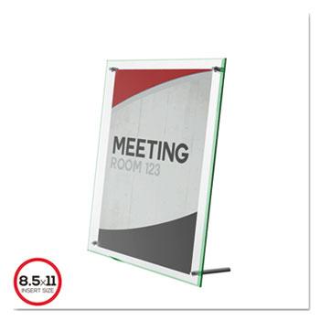 deflecto® Superior Image Beveled Edge Sign Holder, Acrylic, 11 x 8 1/2, Clear