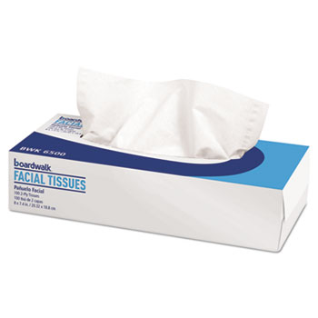 Office Packs Facial Tissue, Flat Box, 100 Sheets/BX, 30 Boxes/CT