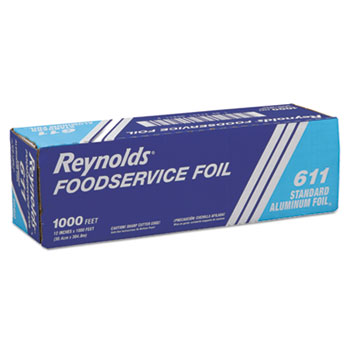 "Reynolds® Standard Aluminum Foil Roll, 12"" x 1000 ft, Silver"