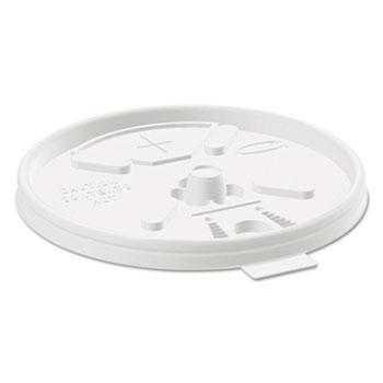 Dart® Translucent Lids for 12-24oz Foam Cups, Straw Slot, 1000/Carton
