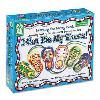 "Carson-Dellosa Publishing ""I Can Tie My Shoes!"" Lacing Cards, Ages 4 and Up"
