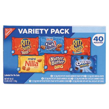 Mini Snack Variety Pack, 1 oz. Bag, 40/CT
