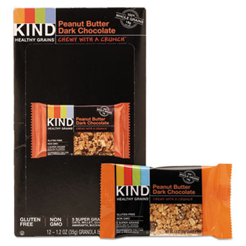 Healthy Grains Bar, Peanut Butter Dark Chocolate, 1.2 oz, 12/Box
