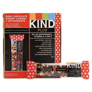 KIND Plus Nutrition Boost Bar, Dk ChocolateCherryCashew/Antioxidants, 1.4 oz, 12/Box
