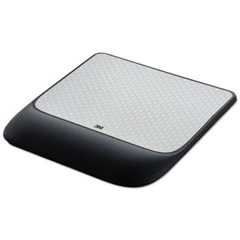 Mouse Pad w/ Precise Mousing Surface w/ Gel Wrist Rest, 8 1/2x9x3/4, Solid Color