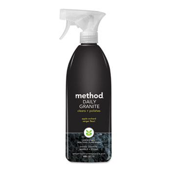 Method® Daily Granite Cleaner, Apple Orchard Scent, 28 oz Spray Bottle, 8/Carton