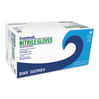 Disposable General-Purpose Nitrile Gloves, Medium, Blue, 4 mil, 1000/Carton