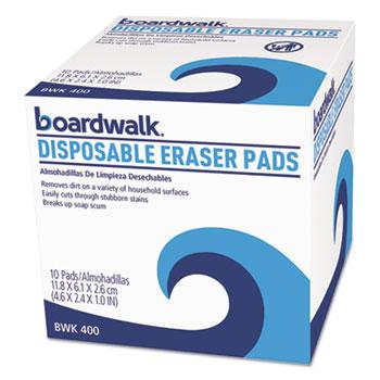Boardwalk® Disposable Eraser Pads, 10/BX