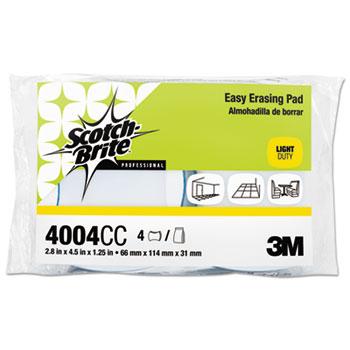 Scotch-Brite® Easy Erasing Pad, 2 4/5 x 4 1/2 x 1 1/5, Blue/White, 4 per Pack