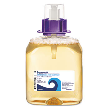 Boardwalk® Foam Antibacterial Handwash, Fruity, 1,250 mL Refill, 4/Carton