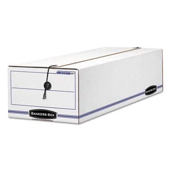 Bankers Box® LIBERTY Storage Box, Record Form, 9 1/2 x 23 1/4 x 6, White/Blue, 12/Carton