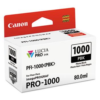 Canon® 0546C002 (PFI-1000) Lucia Pro Ink, 80 mL, Photo Black