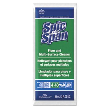 Liquid Floor Cleaner, 3oz Packet, 45/Carton