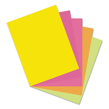 Pacon® Array Card Stock, 65 lb., Letter, Assorted Hyper Colors, 50 Sheets/Pack